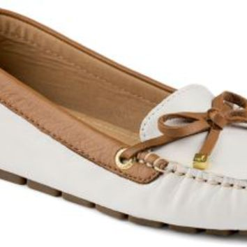 Sperry Top-Sider Katharine 1-Eye Driver Ivory/Cognac, Size 6M  Women's Shoes