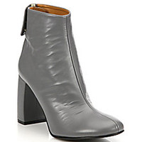 Stella McCartney - Faux Leather Block-Heel Booties - Saks Fifth Avenue Mobile