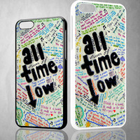 All Time Low Lyric  X0702 iPhone 4S 5S 5C 6 6Plus, iPod 4 5, LG G2 G3 Nexus 4 5, Sony Z2 Case