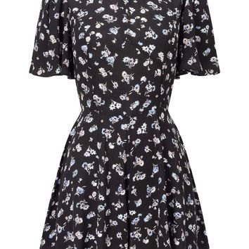 PETITE Ditsy Print Playsuit | Missselfridge