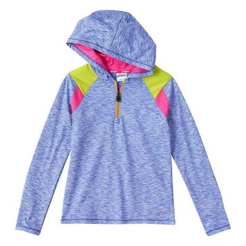 asics colorblock popover hoodie girls 7 16 size  number 1