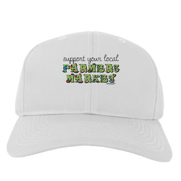 Support Your Local Farmers Market - Color Adult Baseball Cap Hat