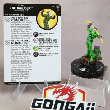 DC Heroclix Joker's Wild set The Riddler #051 Super Rare