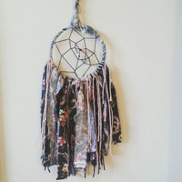 """7"""" Dream Catcher, Black & Floral, Gift for mom, Gift for her, gift for baby, bohemian, bedroom decor ideas, Home and Living, BohoChic Style"""