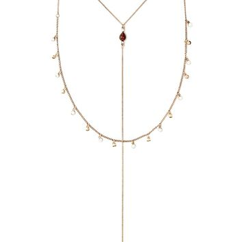 Drop Chain Layered Necklace