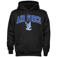 Air Force Falcons Midsize Arch Pullover Hoodie - Black