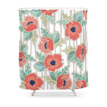 Society6 Allover Large Floral Shower Curtain