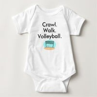 Crawl Walk Volleyball Baby Bodysuit