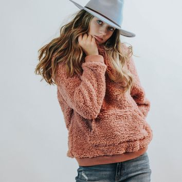 Serena Teddy Pullover (Dusty Rose)