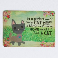 Magnet  Postcard:  Cat  Perfect  World  Magnet  Postcard  From  Natural  Life