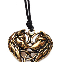 Horse Heart Handmade Brass Necklace Pendant Jewelry