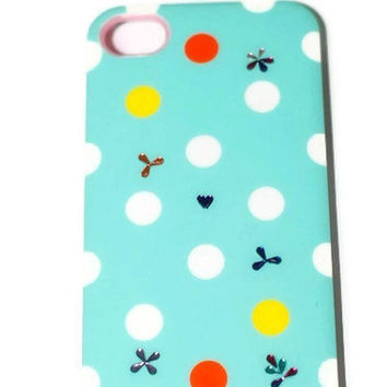 On Sale,Swarovski Crystals Iphone 4 / 4S case, kawaii iphone case, coloful iphone case, Free shipping