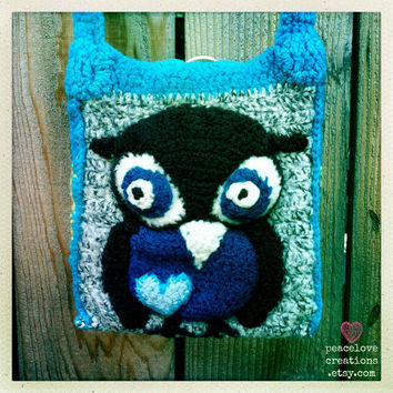 Crochet Felted Owl Bag