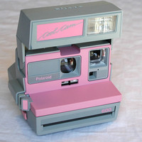 RESERVED LISTING   Polaroid Pink Cool Cam 600 by SunsetSideVintage