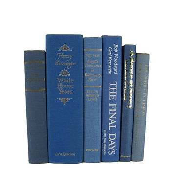 Blue  Decorative Books , Book Lover Set, Cloth Covers