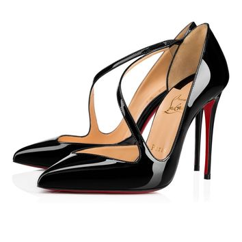 Cl Christian Louboutin Jumping Black Patent Leather 18s Pumps 1180825bk01 - Best Online Sale