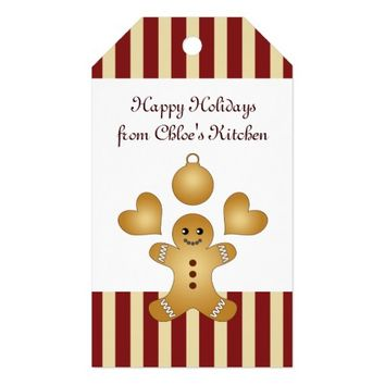 Cute Christmas Holiday Cookies Personalized Gift Tags