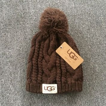 Brown Winter Trendy Warm Soft Knit Hat