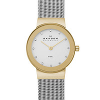 Skagen Denmark Ladies Two-Tone Stainless Steel Watch
