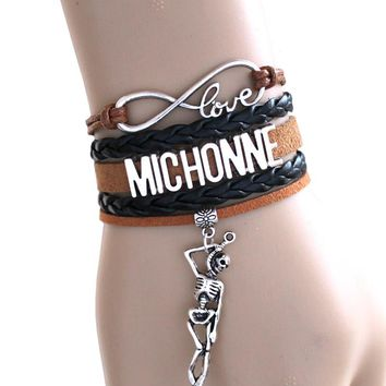 Infinity Bracelet, Love MICHONNE ,THE Walking Dead Bracelet