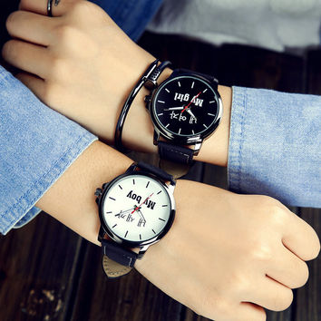Gift New Arrival Good Price Great Deal Stylish Awesome Designer's Trendy Korean Simple Design Leather Emoji Watch [11668136335]