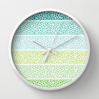 Zen Pebbles Wall Clock by Pom Graphic Design