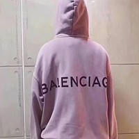 Balenciaga Long Sleeve Hedging Pullover Sweater Hoodies(6-Color) Purple I-CN-CFPFGYS