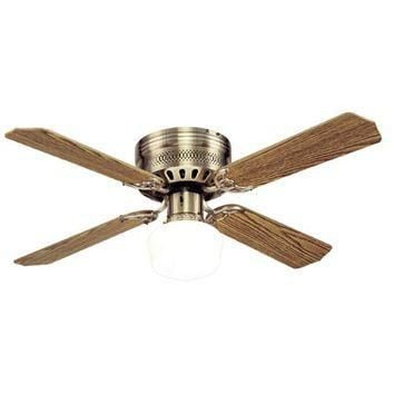 Westinghouse Lighting 78123 Casanova Supreme 42-Inch Antique Brass Ceiling Fan