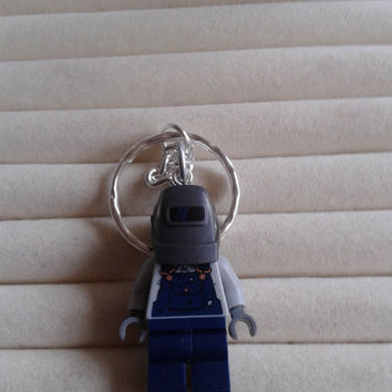 Welder  keychain keyring  made with LEGO® series 11 minifigure