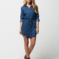 HIGHWAY JEANS Belted Denim Dress | Short Dresses
