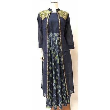 Party Wear Long Embroidered Dress/Gown