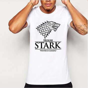 The House of Stark Winterfell Wolf t-shirts
