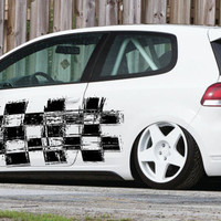 Grudge Checkered Flag Racing Drift Tuned Car vinyl graphics SUV tr028
