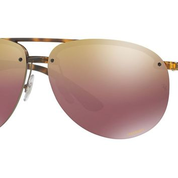 RAY BAN 0RB4293CH Aviator Men's Sunglasses Purple/Tortoise