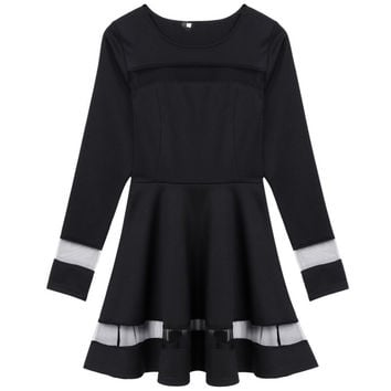 New Sexy Women Long Sleeve Bodycon Casual Party Evening Short Mini DressesSM6