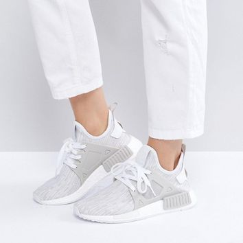 adidas Originals Beige NMD Xr1 Primeknit Trainers at asos.com