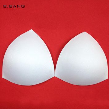 B.BANG 10Pair/lot Triangle Sponge Bra Pad Removable Insert Breast Enhancers Intimate Accessories 3 Color Free Shipping