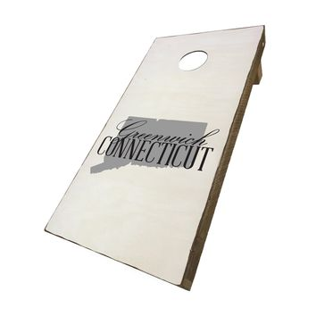 Greenwich Connecticut with State Symbol | Corn Hole Game Set