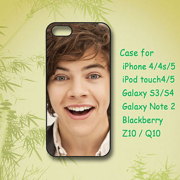 One direction,Harry ,iPhone 4 Case, iPhone 5 Case, ipod case, Samsung Galaxy S4, Samsung Galaxy S3,Samsung note 2,blackberry z10,Q10