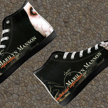 Marilyn Manson Personalized High Top Shoes Unofficial