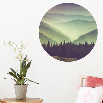 Mountain Scenery Dot Wall Decal PC0218