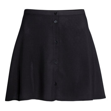 H&M - Short Skirt - Black - Ladies