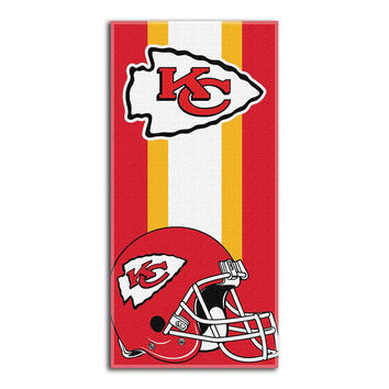 Kansas City Chiefs NFL Zone Read Cotton Beach Towel (30in x 60in)