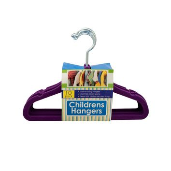 Velvet-Flocked Children's Hangers Set Case Pack 4