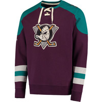 Anaheim Ducks Majestic Vintage Centre Lace-Up Shirt - Purple