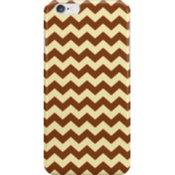 Brown Cream Chevron Zigzag Stripe Pattern by TigerLynx