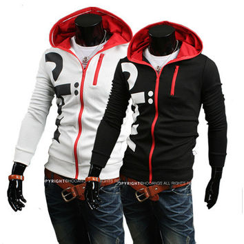 Men's Fashion Hoodies Strong Character Hats Alphabet Print Tops Men Jacket [6528746691]