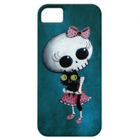 Little Miss Death - Hallowen Beauty iPhone 5 Cover from Zazzle.com