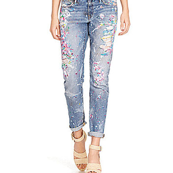 Polo Ralph Lauren Slim Astor Boyfriend Jeans - Jettson Paint Wash