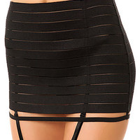 *Intimates Boutique Garter The Bandage High Waisted in Black